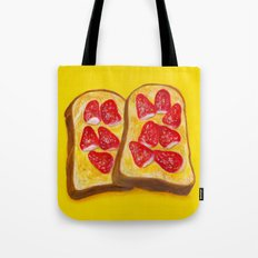 Strawberry Toast Tote Bag