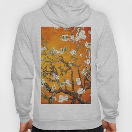 Vincent van Gogh Blossoming Almond Tree (Almond Blossoms) Orange Sky Hoody