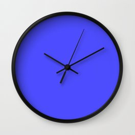 Bright Fluorescent Neon Blue Wall Clock