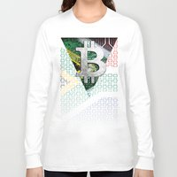 south africa Long Sleeve T-shirts featuring bitcoin South Africa by seb mcnulty