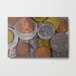 Germany - Deutschmark Old Coins Metal Print