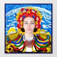 ukraine Canvas Prints featuring Ukraine by Exclusivity