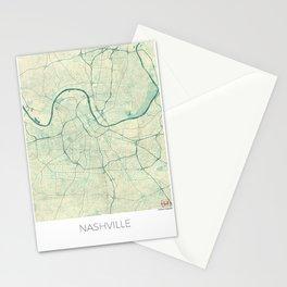 Nashville Map Blue Vintage Stationery Cards