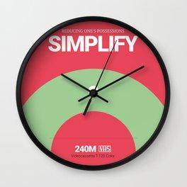 SIMPLIFY #9 Wall Clock