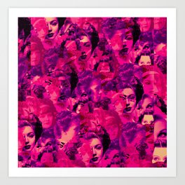 Faces within Faces Art Print