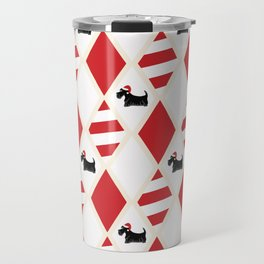 Scottie Dog Christmas Pattern Travel Mug