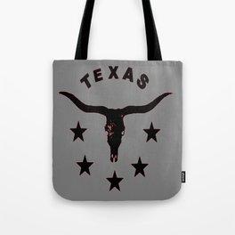 Grey & Black Texas Longhorn Logo Pattern Art Tote Bag