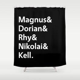 Book Princes Black Shower Curtain