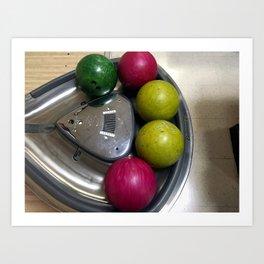 Retro Bowling Balls Art Print
