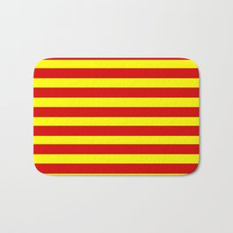 marinière mariniere red and yellow Bath Mat