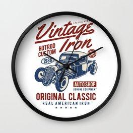 Vintage Iron Hot Rod Custom Wall Clock