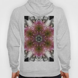 Floral Abstract Pretty In Pink and Silver Hoody