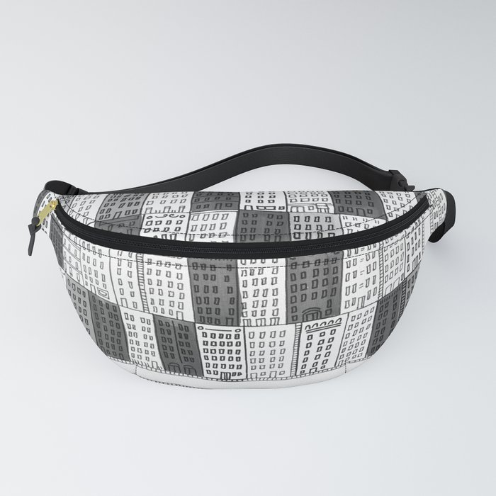 New York Streetscape (black and white) Fanny Pack