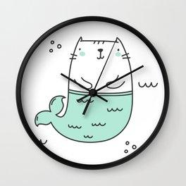 Merkitty Mint Green Wall Clock