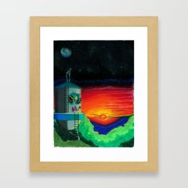Graffiti Nights Framed Art Print
