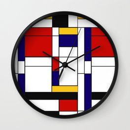 Mondrain Wall Clock