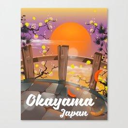 Okayama Japan blossom poster. Canvas Print