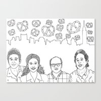 seinfeld Canvas Prints featuring Seinfeld by klingonfeminist