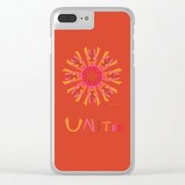 United Mandala with UNITED - Orange Clear iPhone Case