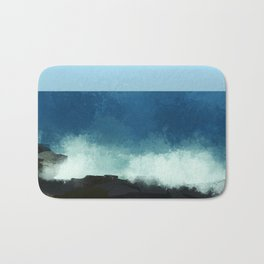 breaking waves Bath Mat