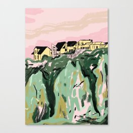 River Houses Canvas Print