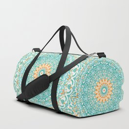 Orange and Turquoise Clarity Mandala Duffle Bag