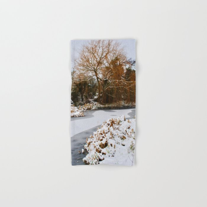 The Old Mill Stream in Winter Hand & Bath Towel