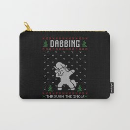 Ugly Christmas Dabbing Unicorn Carry-All Pouch