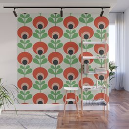 Spring retro flowers pattern no9 Wall Mural