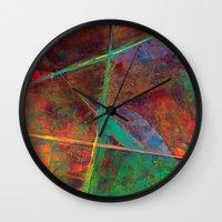 heavy metal Wall Clocks featuring Heavy Metal by Thom Lupari