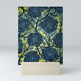 Black and Blue Mini Art Print