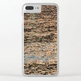 Tourmaline Sparkle over golden sea Clear iPhone Case