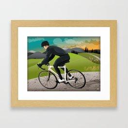 Road Cyclist Framed Art Print