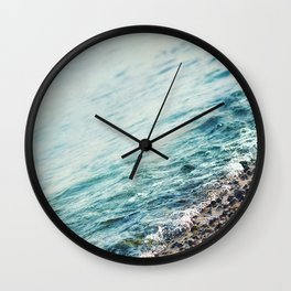 Water and Stone Wall Clock