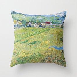 """Les Vessenots"" in Auvers by Vincent van Gogh Throw Pillow"