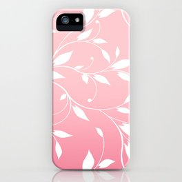 FLOWERY VINES | pink white iPhone Case