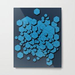 3D Futuristic Cubes VIII Metal Print