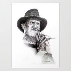 Freddy krueger nightmare on elm street Art Print