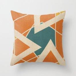Rustic Diamond Throw Pillow