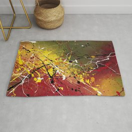 INNERGLOW - Abstract painting design, colorful splash art, Large canvas art Rug