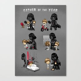 Father of the Year Canvas Print