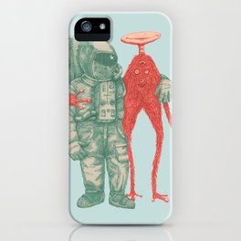 Alien & Astronaut iPhone Case