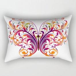Floral Flutterby Rectangular Pillow