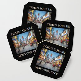 Times Square Sparkle (with type on black) Coaster