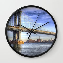 Manhattan Bridge New York Wall Clock