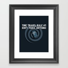 Rule Number One Framed Art Print