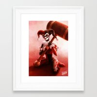 harley Framed Art Prints featuring Harley by fabvalle
