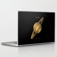 saturn Laptop & iPad Skins featuring Saturn by Terry Fan