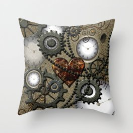 Steampunk II Throw Pillow