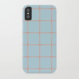 light blue open weave iPhone Case